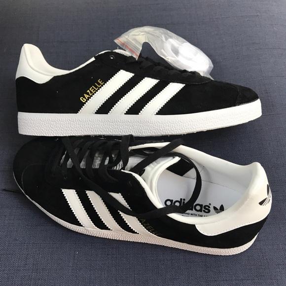 release date: b0609 68605 Adidas Gazelle black suede shoes women